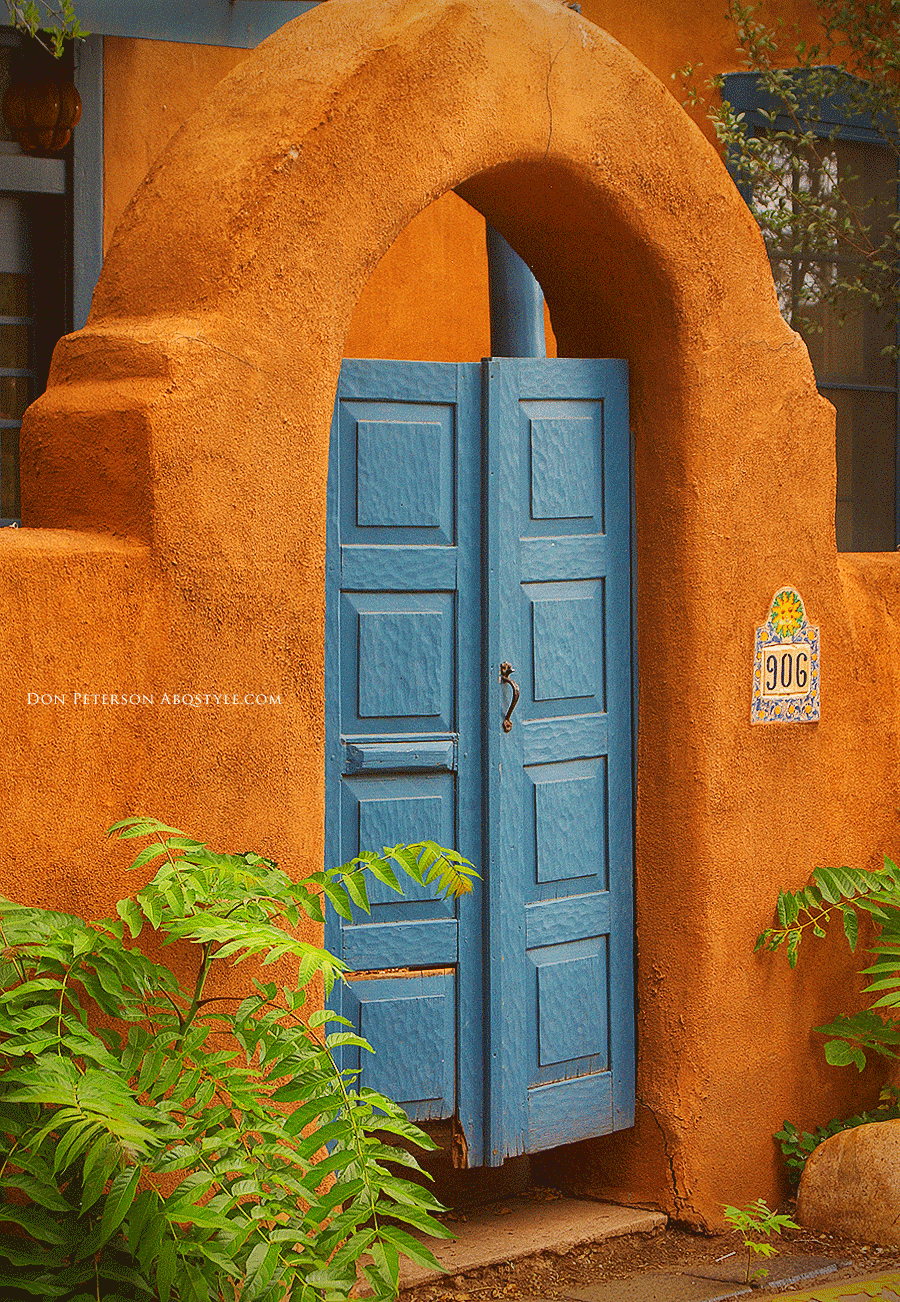 Is Santa Fe Better Than Albuquerque? - A Santa Fe Pueblos-Style Doorway