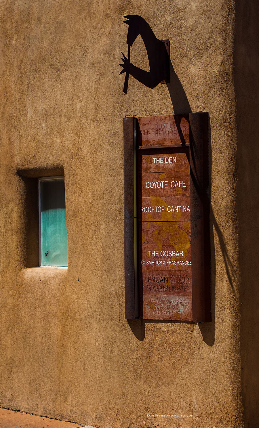 A Santa Fe Restaurant Detail, Santa Fe, New Mexico