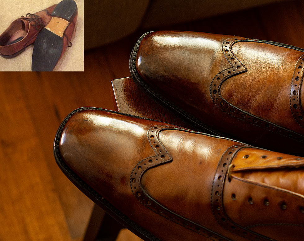 Second-Hand Goodyear Welted Calfskin Leather Shoes