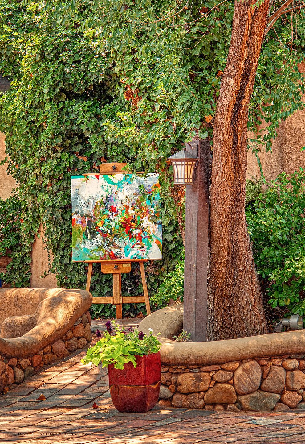 Art is everywhere in Santa Fe, New Mexico!