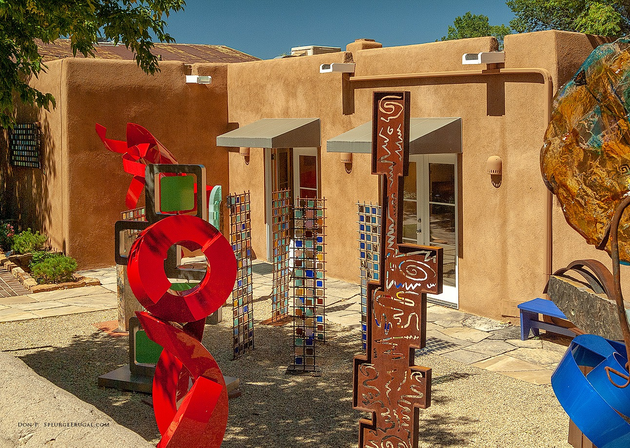 One of the many art galleries along famed Canyon Road in Santa Fe, New Mexico