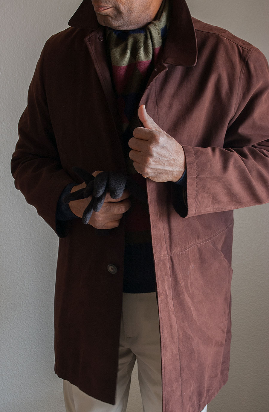 Thrifted Ralph Lauren Faux-Suede Overcoat