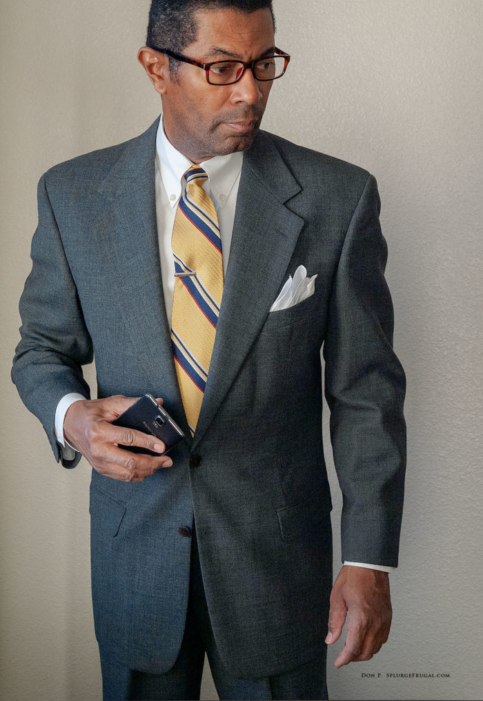 Thrifted Grey Flannel Suit (Suave!)